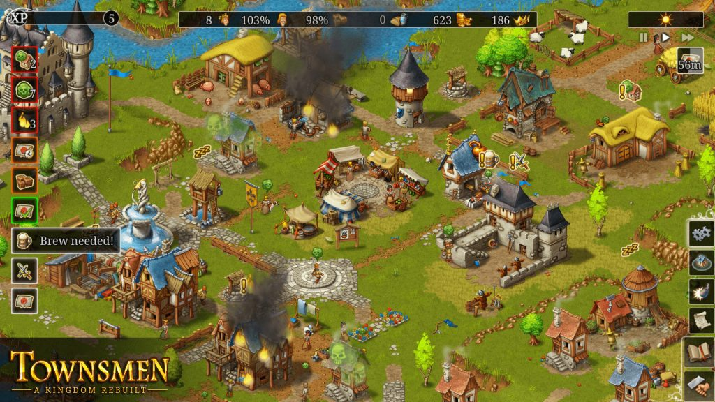 Townsmen: Best City Building Games for Mobile and PC