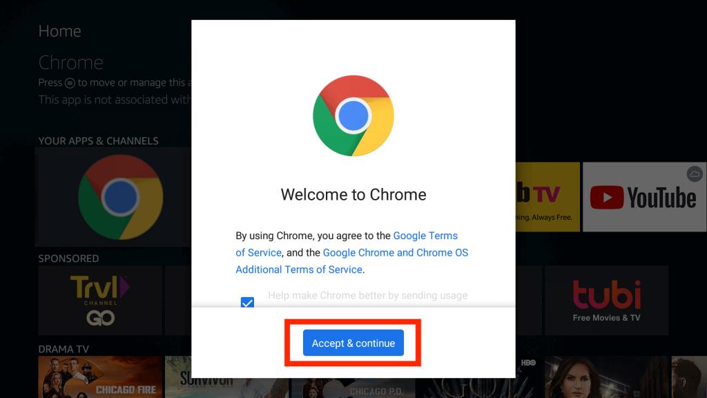 Install Google Chrome on Firestick