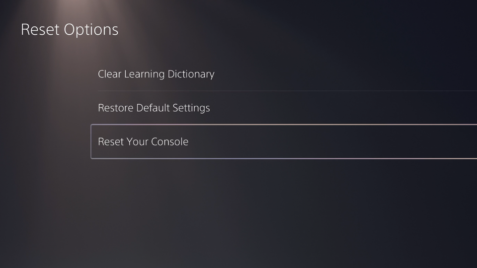 How to Factory Reset PS5