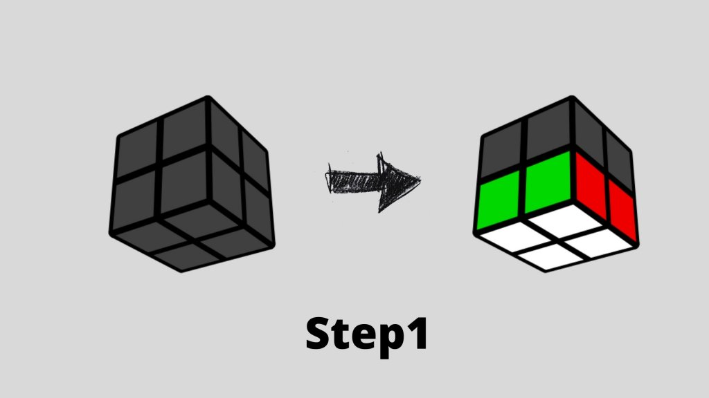How To Solve Rubik's Cube 2X2: Quick 5 min Guide step1