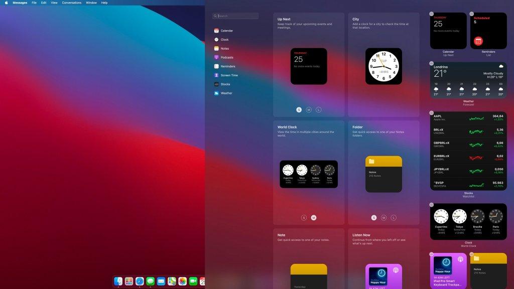 Windows 11 vs macOS: macOS Big Sur Widget