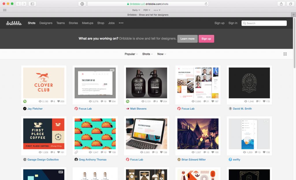 8 Best Social Bookmarking Sites: Dribbble