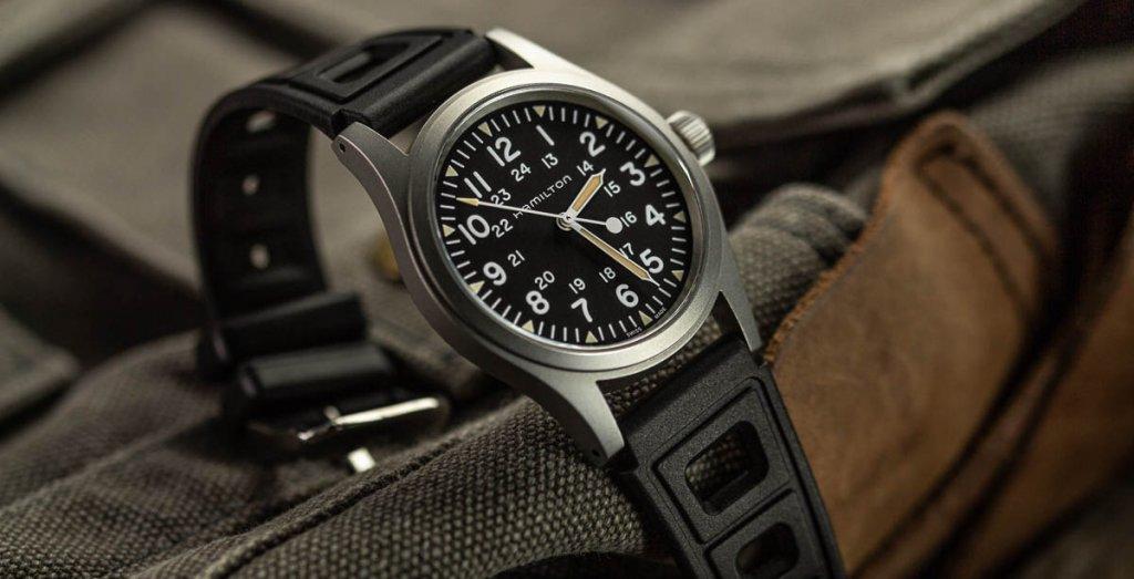 Hamilton: Khaki Field Silicone Strap Watch