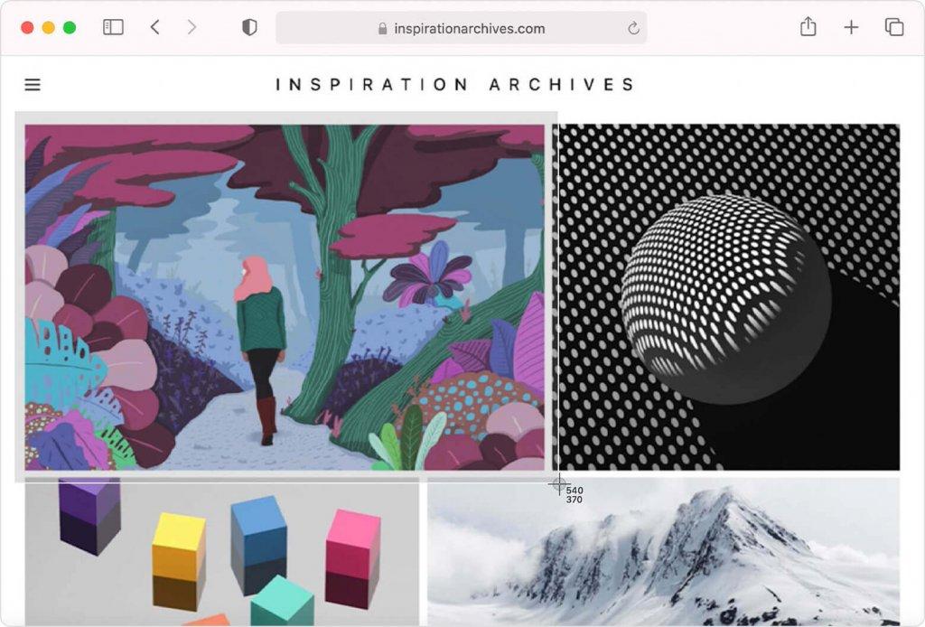 Screenshot on Mac