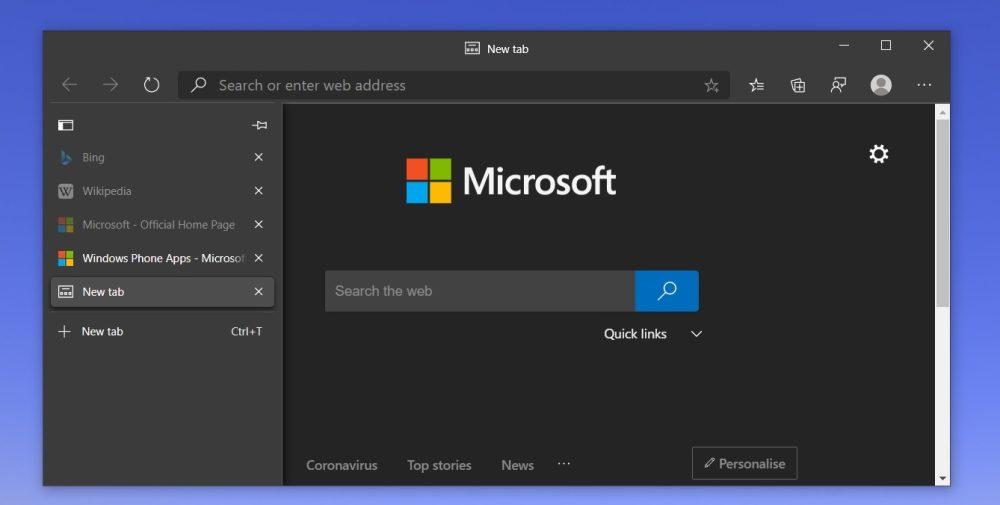 Windows 11 vs macOS: Edge Vertical Tabs
