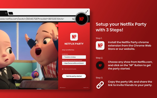 How to set up Netflix Party