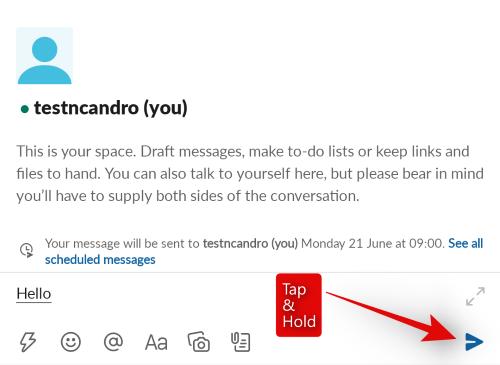 Scheduled Messaging on Slack
