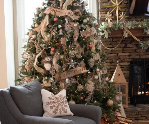 Rustic Elegance christmas tree