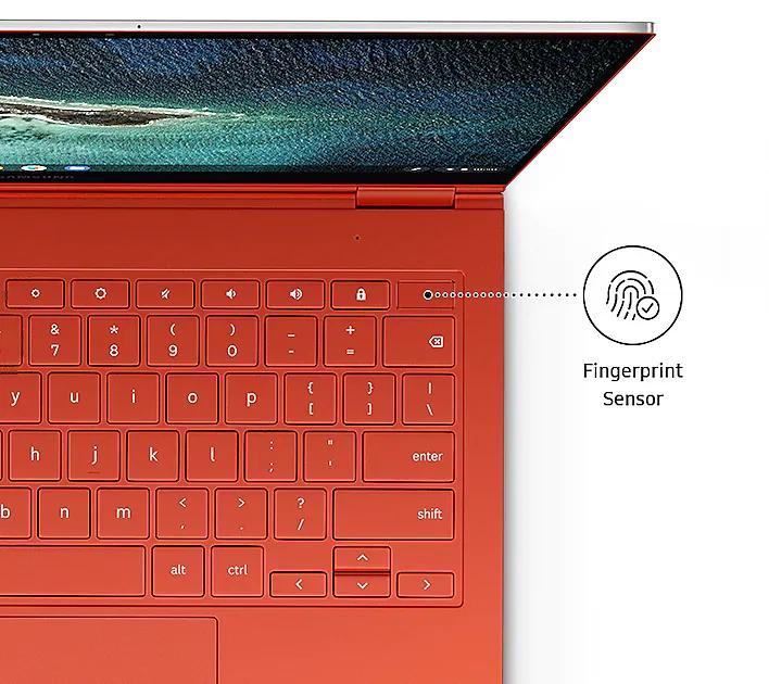 Samsung Galaxy Chromebook 2 vs. Galaxy Chromebook: Fingerprint