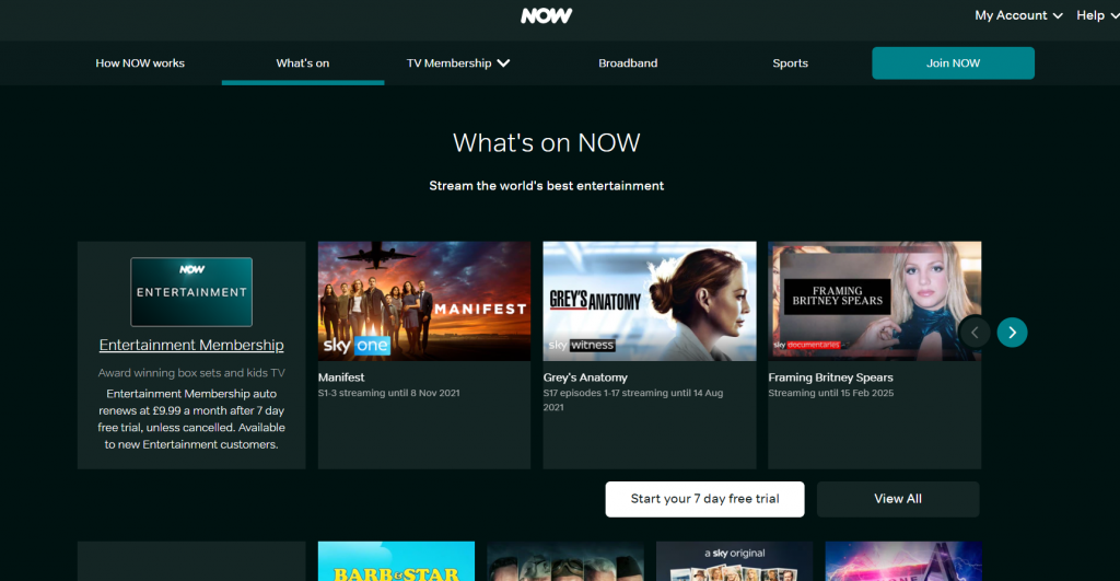 Best Streaming Services in UK: NOW