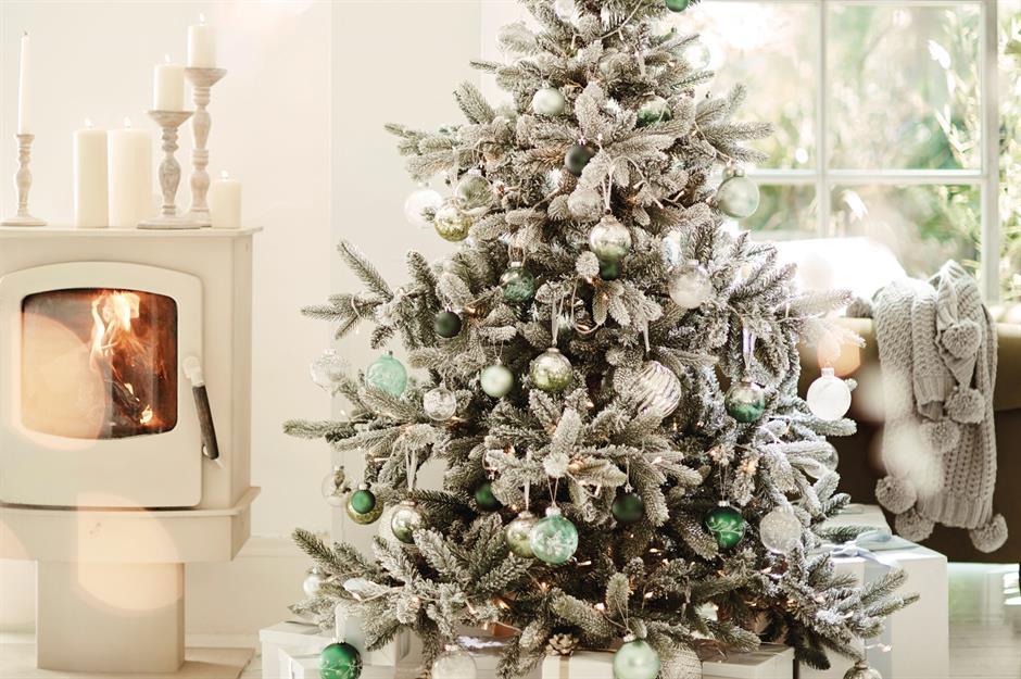 All Silver christmas tree