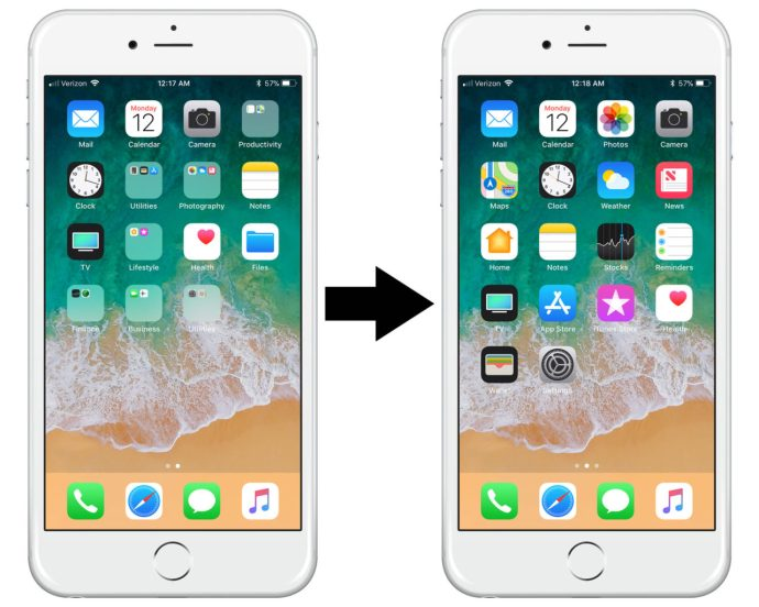 How to reset iPhone Home Screen Layout for iOS 11