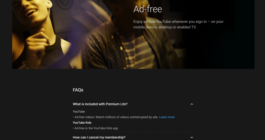 YouTube Premium Lite now Trialing in Europe