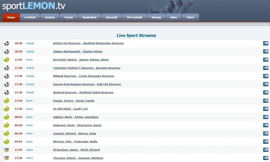 9 Best Free Football Streaming Sites: SportsLemon TV