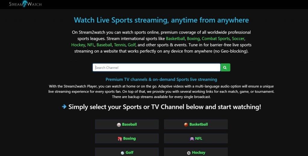 9 Best Free Football Streaming Sites: Stream2Watch