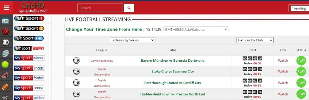 9 Best Free Football Streaming Sites: CricHD