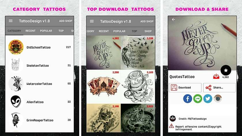 Tattoo Designs: Best Tattoo Design Apps For Android