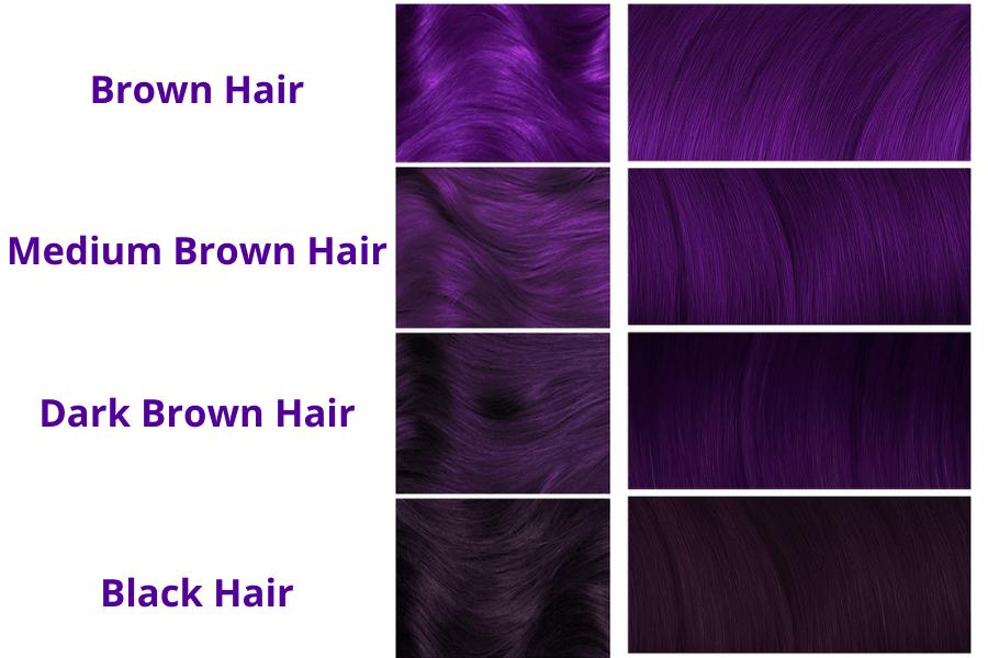 Purple Hair Dye For Dark Hair