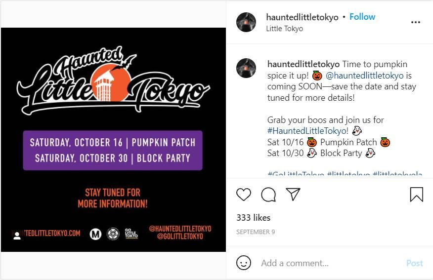 Haunted Little Tokyo's Pumpkin Patch;  7 Spooky Halloween Events In LA