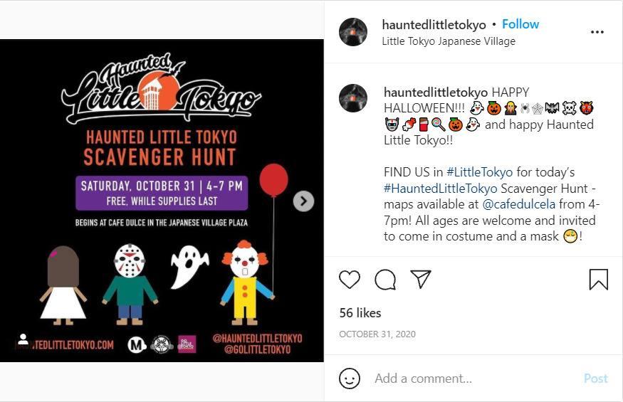 Haunted Little Tokyo Scavenger Hunt;  7 Spooky Halloween Events In LA